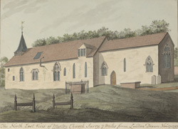 The North East View of Merton Church, Surry, 7 Miles from London